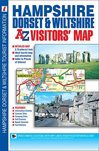 Hampshire, Dorset & Wiltshire Visitors Map By A-Z maps