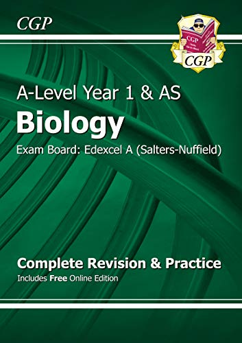 A-Level Biology: Edexcel A Year 1 & AS Complete Revision & Practice with Online Edition (CGP A-Level Biology) By CGP Books