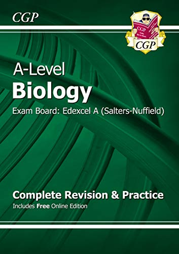 A-Level Biology: Edexcel A Year 1 & 2 Complete Revision & Practice with Online Edition (CGP A-Level Biology) By CGP Books
