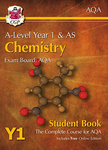 A-Level Chemistry for AQA: Year 1 & AS Student Book with Online Edition By CGP Books