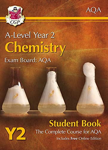 A-Level Chemistry for AQA: Year 2 Student Book with Online Edition By CGP Books