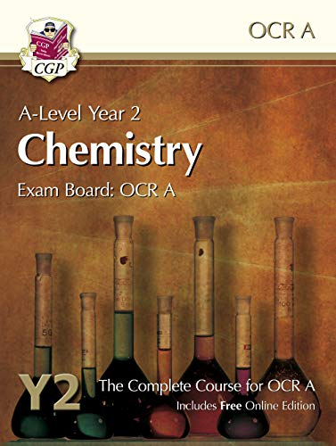 A-Level Chemistry for OCR A: Year 2 Student Book with Online Edition By CGP Books
