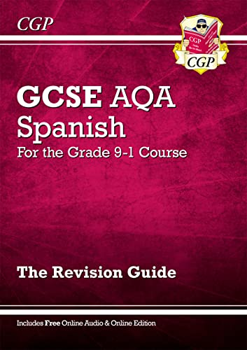 GCSE Spanish AQA Revision Guide - for the Grade 9-1 Course (with Online Edition) By CGP Books
