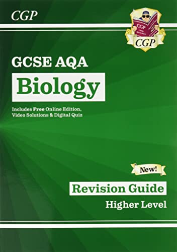 Grade 9-1 GCSE Biology: AQA Revision Guide with Online Edition - Higher By CGP Books