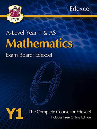 New A-Level Maths for Edexcel: Year 1 & AS Student Book with Online Edition by CGP Books