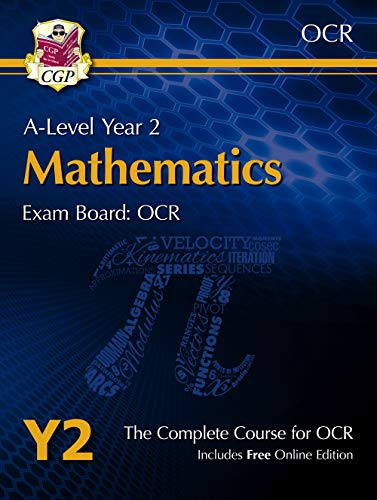 New A-Level Maths for OCR: Year 2 Student Book with Online Edition (CGP A-Level Maths 2017-2018) By CGP Books