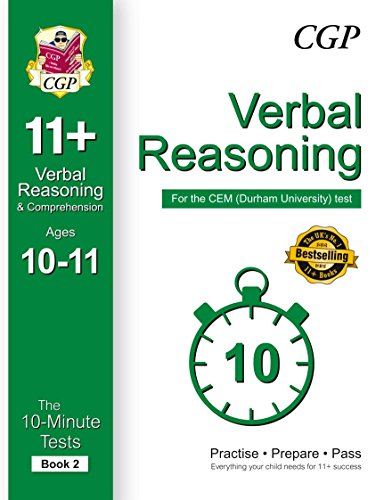 10-Minute Tests for 11+ Verbal Reasoning Ages 10-11 (Book 2) - CEM Test By CGP Books