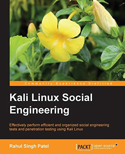 Kali Linux Social Engineering By Rahul Singh Patel