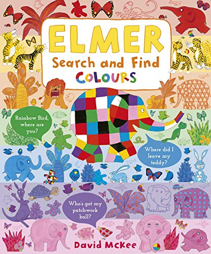 Elmer Search and Find Colours By David McKee
