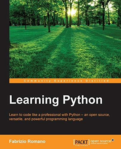 Learning Python By Fabrizio Romano