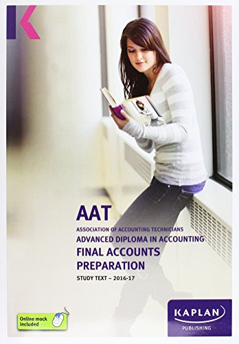 AAT Final Accounts Preparation - Study Text by Kaplan Publishing