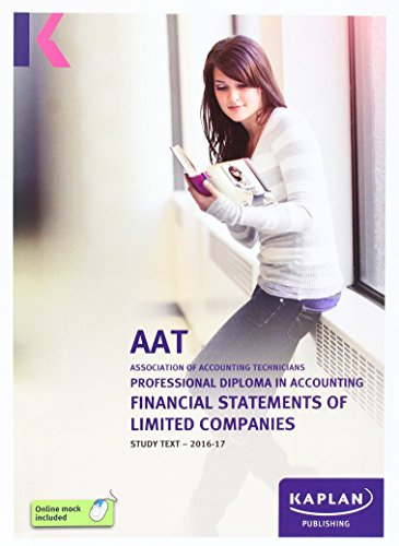 AAT Financial Statements of Limited Companies - Study Text By Other Kaplan Publishing