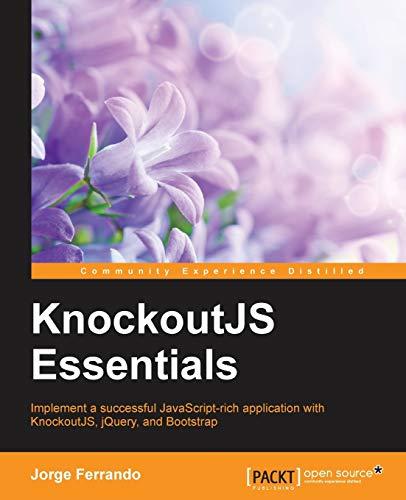 KnockoutJS Essentials By Jorge Ferrando
