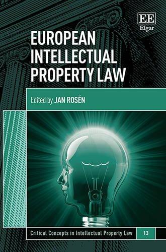 European Intellectual Property Law By Jan Rosen