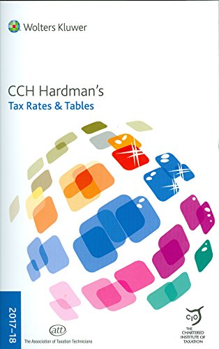 Hardmans Tax Rates & Tables: 2017-18 by Wolters Kluwer
