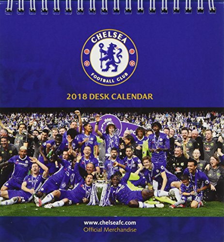 Chelsea F.C. Official Desk Easel 2018 Calendar - Month To View Desk Format By CHELSEA