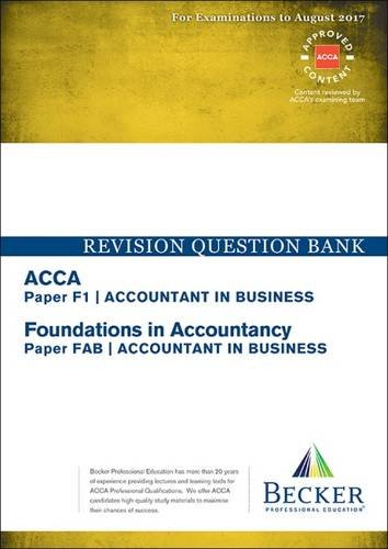 ACCA Approved - F1 Accountant in Business (FIA: FAB) By Becker Professional Education Ltd