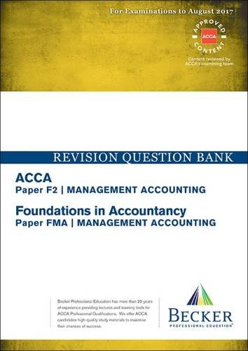 ACCA Approved - F2 Management Accounting (FIA: FMA) By Becker Professional Education Ltd