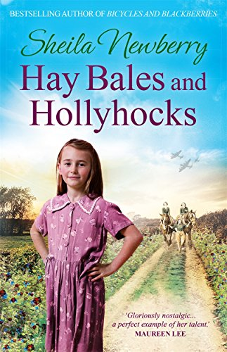 Hay Bales and Hollyhocks by Sheila Newberry