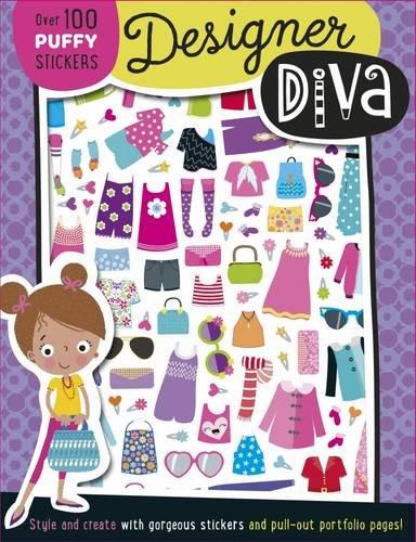 Designer Dina Puffy Sticker Book By Lara Ede
