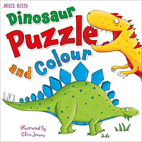 Dinosaur Puzzle & Colour By Kelly Miles