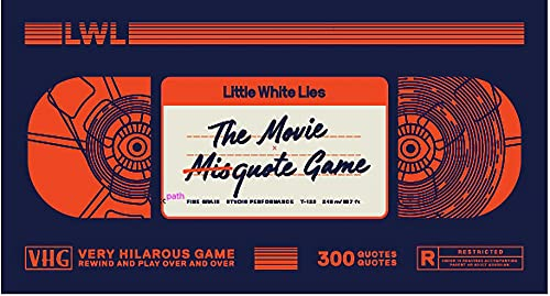 The Movie Misquote Game By Little White Lies