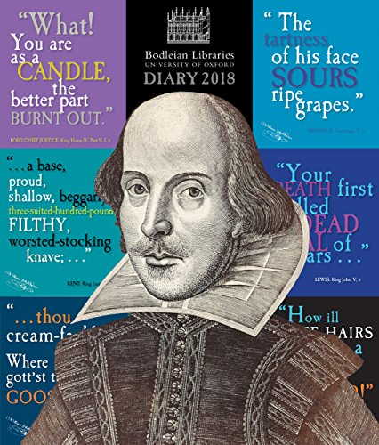 Bodleian Library - Shakespeare's insults Desk Diary 2018 By Flame Tree Studios
