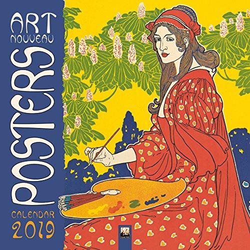 Art Nouveau Posters Wall Calendar 2019 (Art Calendar) By Created by Flame Tree Studio