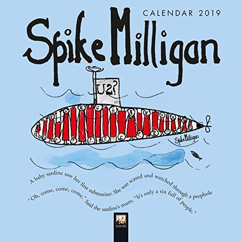 Spike Milligan - mini wall calendar 2019 (Art Calendar) (Mini Square) By Created by Flame Tree Studio