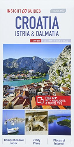 Insight Guides Travel Map Croatia Istria & Dalmatia By Insight Guides