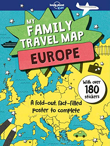 My Family Travel Map - Europe By Lonely Planet Kids