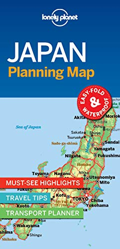 Lonely Planet Japan Planning Map By Lonely Planet