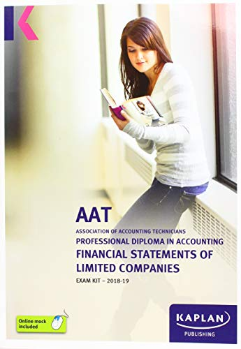FINANCIAL STATEMENTS OF LIMITED COMPANIES - EXAM KIT By KAPLAN PUBLISHING