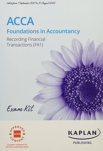 RECORDING FINANCIAL TRANSACTION - EXAM KIT By KAPLAN