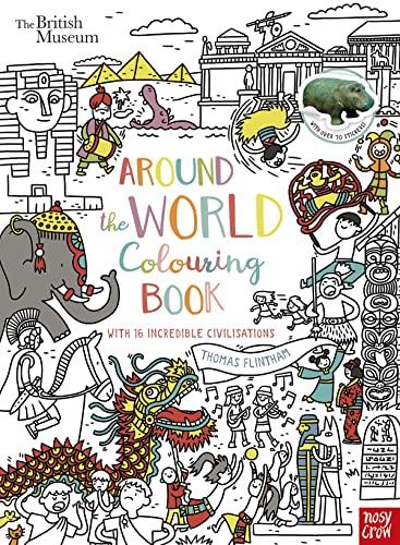 British Museum: Around the World Colouring Book By Thomas Flintham