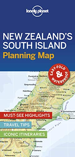 Lonely Planet New Zealand's South Island Planning Map By Lonely Planet