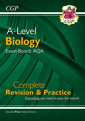 New A-Level Biology: AQA Year 1 & 2 Complete Revision & Practice with Online Edition (CGP A-Level Biology) By CGP Books