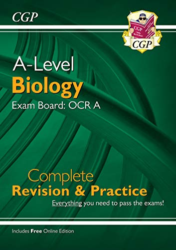 New A-Level Biology for 2018: OCR A Year 1 & 2 Complete Revision & Practice with Online Edition (CGP A-Level Biology) By CGP Books