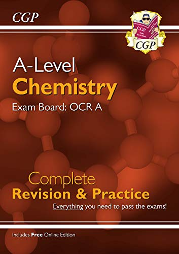 New A-Level Chemistry: OCR A Year 1 & 2 Complete Revision & Practice with Online Edition By CGP Books