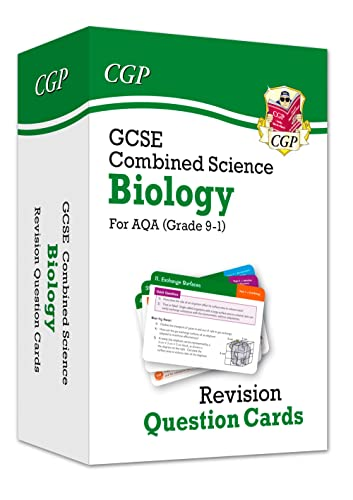 New 9-1 GCSE Combined Science: Biology AQA Revision Question Cards By CGP Books