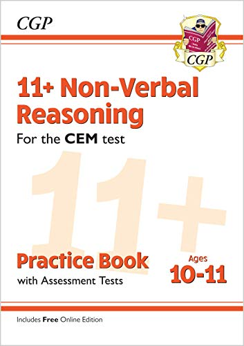 11+ CEM Non-Verbal Reasoning Practice Book & Assessment Tests - Ages 10-11 (with Online Edition) By CGP Books