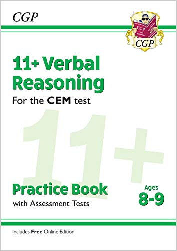 11+ CEM Verbal Reasoning Practice Book & Assessment Tests - Ages 8-9 (with Online Edition) By CGP Books