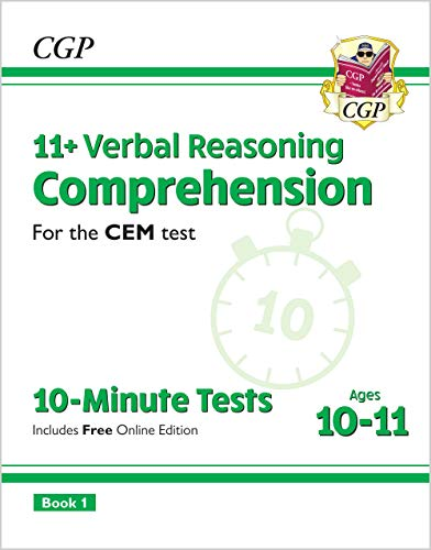 11+ CEM 10-Minute Tests: Comprehension - Ages 10-11 Book 1 (with Online Edition) von CGP Books