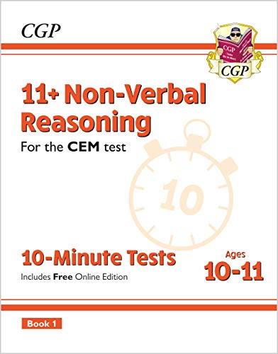 11+ CEM 10-Minute Tests: Non-Verbal Reasoning - Ages 10-11 Book 1 (with Online Edition) von CGP Books