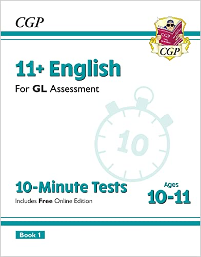 11+ GL 10-Minute Tests: English - Ages 10-11 Book 1 (with Online Edition) By CGP Books