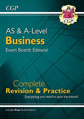 New AS and A-Level Business: Edexcel Complete Revision & Practice with Online Edition By CGP Books