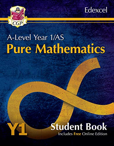 New A-Level Maths for Edexcel: Pure Mathematics - Year 1/AS Student Book (with Online Edition) By CGP Books