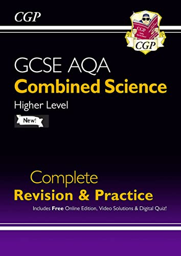 New GCSE Combined Science AQA Higher Complete Revision & Practice w/ Online Ed, Videos & Quizzes By CGP Books