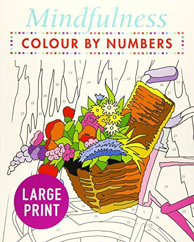 Mindfulness Colour-by-Numbers Large Print By Arcturus Publishing