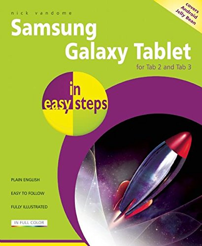 Samsung Galaxy Tablet in easy steps: For Tab 2 and Tab 3 Covers Android Jelly Bean By Nick Vandome